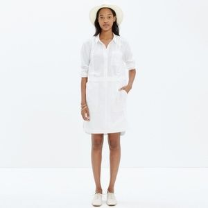 MADEWELL white button down style cotton dress.